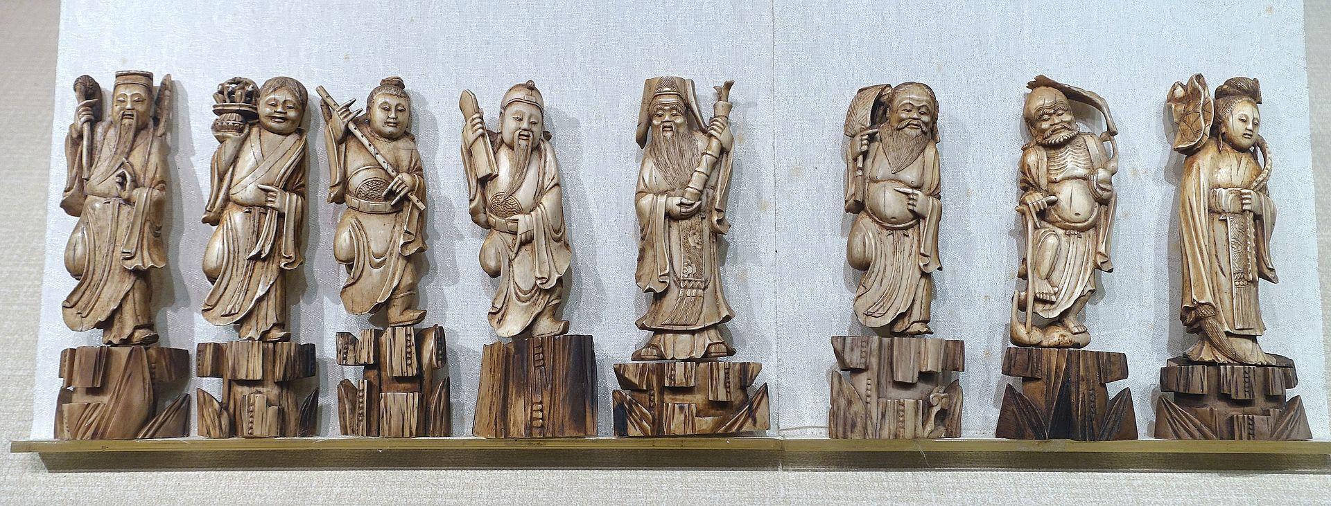Eight Immortals, figurines - Sichuan University Museum - Chengdu, China - DSC06171.jpg
