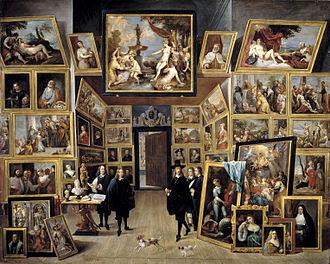 Stallburg - Image: El archiduque Leopoldo Guillermo en su galería de pinturas en Bruselas (David Teniers II)