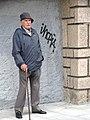 Elderly Man in Street - Bilbao - Biscay - Spain (14620829382).jpg