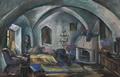 Elena Popea - Interior din castelul Bran1.png