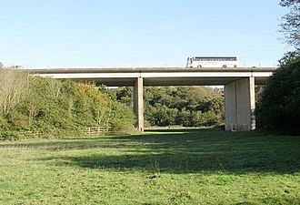 A4232 road - Ely Viaduct