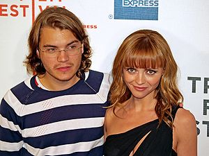 Speed Racer (film) - Emile Hirsch and Christina Ricci at the Tribeca Film Festival premiere
