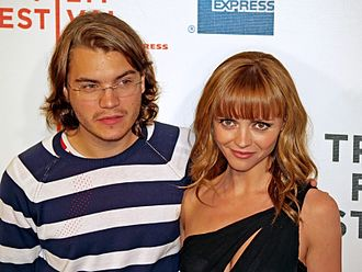 Christina Ricci - Ricci with Emile Hirsch in 2008 at the premiere of Speed Racer