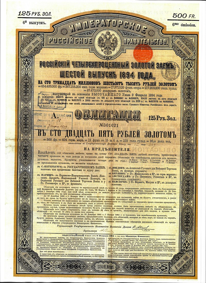 Repudiation Of Debt At The Russian Revolution Wikipedia