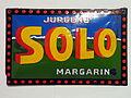 Enamel advertising sign, Jurgens' SOLO margarin.JPG