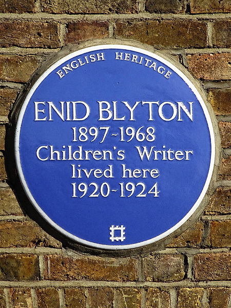 File:Enid Blyton 1897-1968 children's writer lived here 1920-1924.JPG
