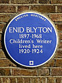 Enid Blyton 1897-1968 children's writer lived here 1920-1924.JPG