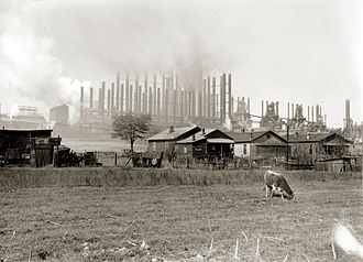 History of Alabama - Blast furnaces such as the Tennessee Coal, Iron and Railroad Company's Ensley Works made Birmingham an important center for iron production in the early 20th century.