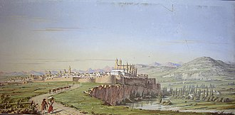 Pamplona - View of Pamplona during the 1850s