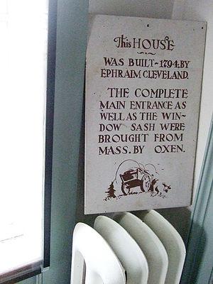 Ephraim Cleveland House - Image: Ephraim cleveland this house