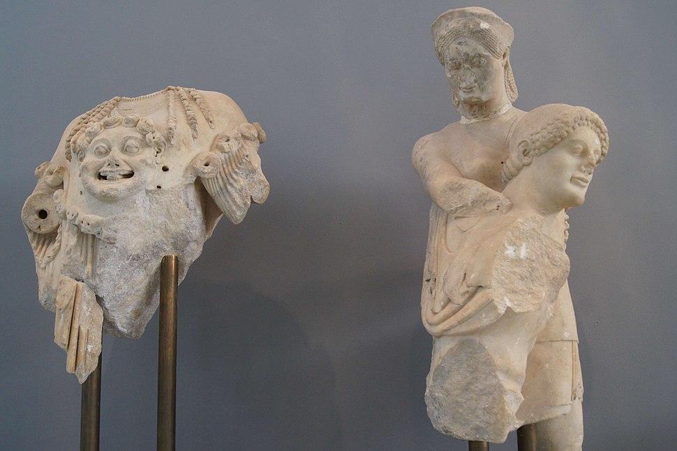 Eretria temple of Apollo pediment