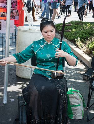 Asiatown, Cleveland - An ehru player performs at the 2016 Cleveland Asian Festival.