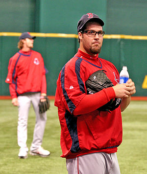 Éric Gagné - Gagné warming up for the Boston Red Sox before a game in 2007