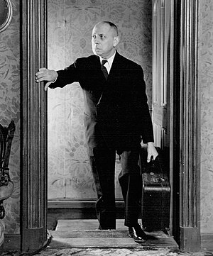 Erich von Stroheim - Stroheim also participated in plays.  He is seen here as Jonathan Brewster in the Broadway version of Arsenic and Old Lace.  Stroheim assumed the role from Boris Karloff and was part of the cast from circa 1941 to 1943.