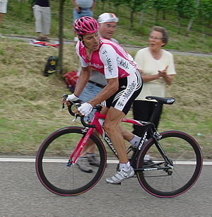 Erik Zabel - Erik Zabel in the national road championship, 2004
