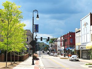Erwin, Tennessee - View along Main Street in Erwin