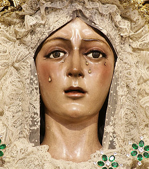 Macarena, Seville - The famed Virgin of Hope of Macarena in close-up detail