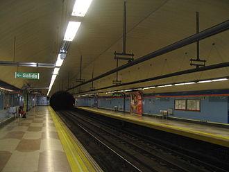 Las Musas (Madrid Metro) - Image: Estacion Las Musas