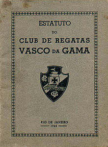 df1580982e Estatuto de 1942 del Club de Regatas Vasco da Gama.