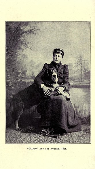 Ethel Smyth - Ethel Smyth and her dog, Marco, 1891