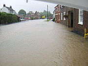 Etton Main Street Flooded