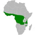 Eurillas virens distribution map.png
