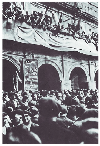Southern Basque Country - Rally held at Lizarra-Estella in support of the Basque Statute (June 1932)