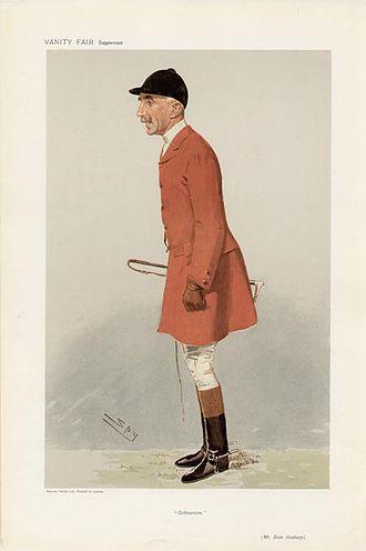 "Cottesmore Hunt - Vanity Fair print titled ""Cottesmore"", showing Evan Hanbury MFH, 5 December 1906"