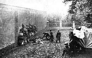 Nazi crimes against the Polish nation - Execution of ethnic Poles by German SS Einsatzkommando soldiers in Leszno, October 1939