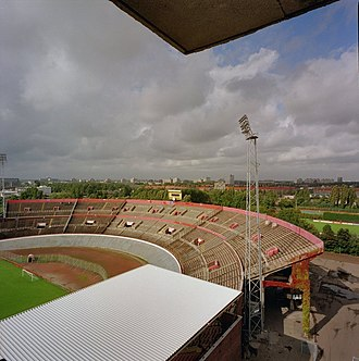 Olympic Stadium (Amsterdam) - The 1937 second ring in 1995, a year before it was removed as part of the 1996 renovation.