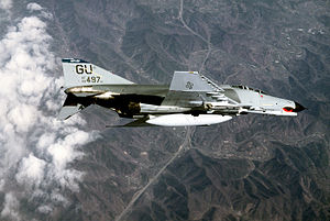 497th Combat Training Flight - A 497th F-4E Phantom II over Korea in 1986