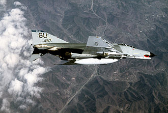 497th Combat Training Flight - A 497th F-4E Phantom II over Korea in 1986