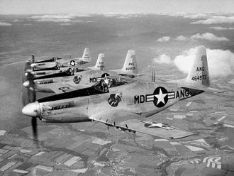 Maryland Air National Guard - Maryland ANG F-51H Mustangs, 1952