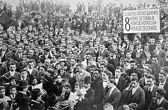 Anarchism in Argentina - Anarchist demonstration around 1900