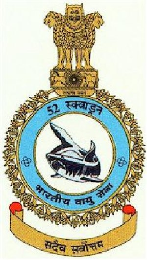 "No. 52 Squadron IAF - ""The crest of the No. 52 Squadron"""