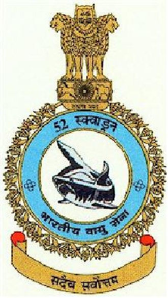 "No. 52 Squadron IAF - ""The crest of the No. 52 Squadron"""