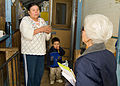 FEMA - 39903 - FEMA Community Relations worker speaks with a resident in Washington.jpg