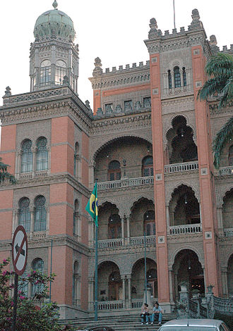 Moorish Revival architecture - Palace of the Oswaldo Cruz Foundation in Rio de Janeiro (Brazil)