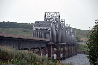 National Register of Historic Places listings in Dewey County, South Dakota - Image: FOREST CITY BRIDGE, DEWEY COUNTY, SD