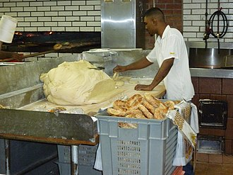 Montreal-style bagel - Fairmount Bagel – A loaf of bagel dough that is ready to be rolled and prepared.