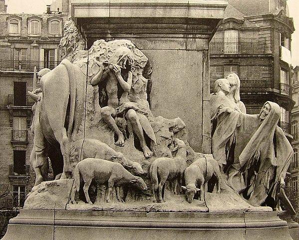 Скульптурная группа у подножия памятника Луи Пастеру, Париж, Place de Breteuil