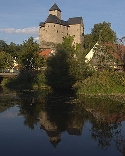 Waldnaab river in Germany
