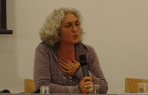 Farah Karimi - Karimi in a seminar at Leiden University, 2013