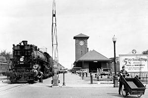 Fargo station - As a Great Northern Railway Depot, Summer 1939.