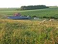 Farmland, barn and house, Fawley - geograph.org.uk - 876195.jpg
