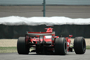 2006 United States Grand Prix - Scuderia Ferrari locked out the front row on the grid.