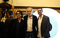Fernando Trueba with Ni Jing directors Roberto F. Canuto and Xu Xiaoxi in Gijon International Film Festival 2014.jpg