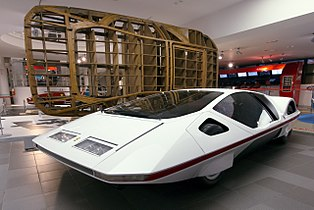 Ferrari Modulo and wooden frame Museo Ferrari
