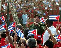 Fidel Castro 1. Mai 2005 bei Kundgebung