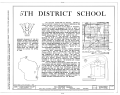 Fifth District School, 8405 West National Avenue, West Allis, Milwaukee County, WI HABS WIS,40-WESAL,2- (sheet 1 of 6).png
